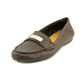 Coach Fredrica Women  Moc Toe Leather Brown Loafer