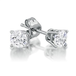 Amanda Rose 1/2ct tw Round Diamond Stud Earrings set in 14K White Gold