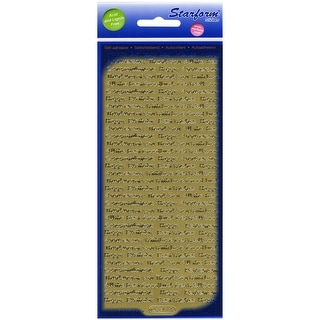 Assorted Words Peel-Off Stickers-Gold - gold