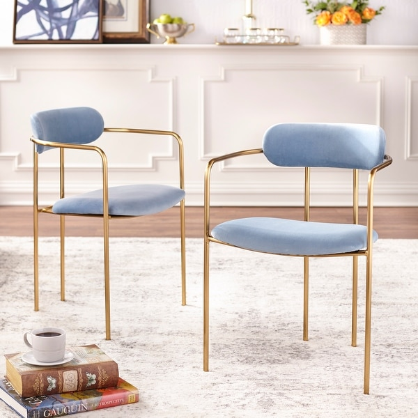 Simple Living Retro Velvet Dining Arm Chair (Set of 2). Opens flyout.