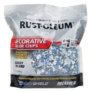 Rust-Oleum 312449 Decorative Color Chips, Glacier Gray, 1 lb.