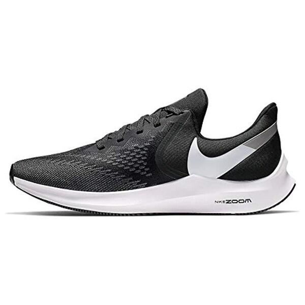 Nike Zoom Winflo 6 Mens Sneakers AQ7497 001, BlackWhite Dark Grey MTLC Platinum, Size US 8