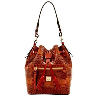 Dooney & Bourke Snake Small Logan (Introduced by Dooney & Bourke at $288 in Nov 2016) - Saddle