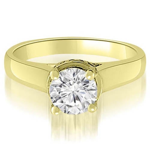 1.05 cttw. 14K Yellow Gold Lucida Round Diamond Engagement Ring