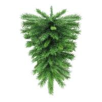 "30"" Mixed Green Pine Artificial Christmas Teardrop Swag - Unlit"