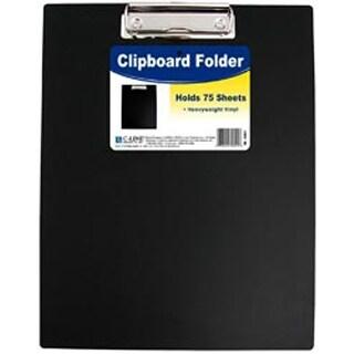 "Black - Vinyl Clipboard Folder 12.75""X9"""