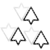 Billiard Pool Triangle Magic Rack Sheet Black White 6pcs for 9/10 Ball Snooker