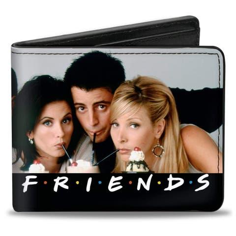 Friends Characdters Milk Shake Pose Bi-Fold Wallet