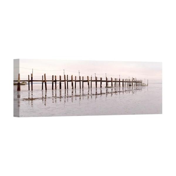 Easy Art Prints Alan Blaustein's 'Vintage Pier at Fishing Village' Premium Canvas Art