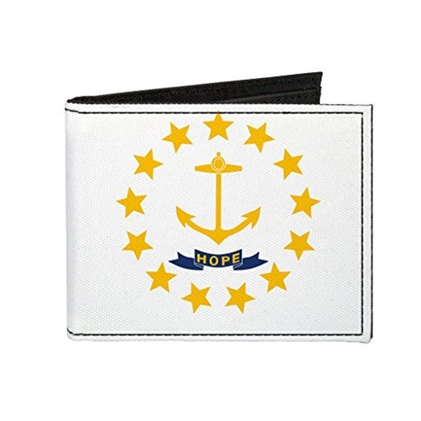 Buckle-Down Canvas Bi-fold Wallet - Rhode Island Flag Accessory