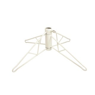 White Metal Christmas Tree Stand For 6.5' - 7.5' Artificial Trees