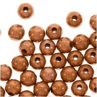 Real Copper Small Uniform Round Beads 3 mm (100)