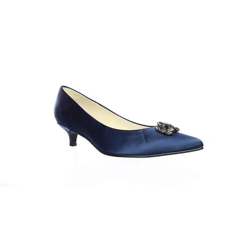Caparros Womens Oligarch Navy New Satin Pumps Size 7.5