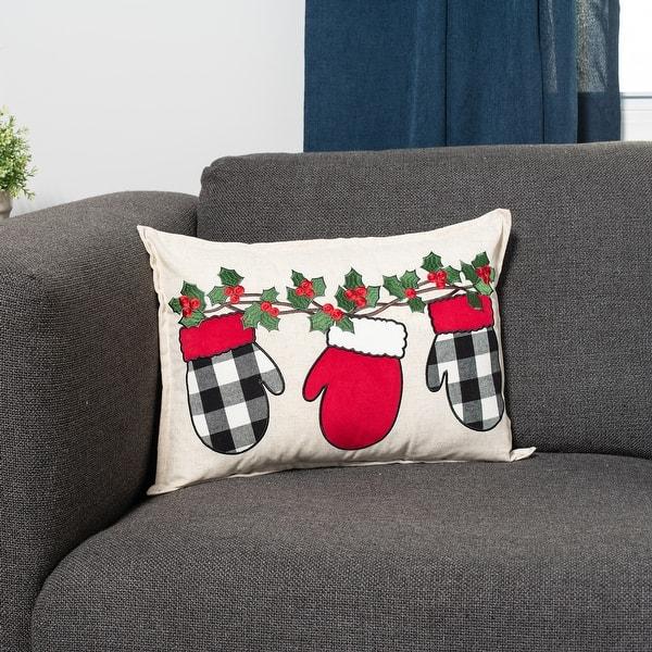 Sure Fit Home Decor Buffalo Garland Mitten Decorative Throw Pillow Overstock 32308139