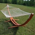 Sunnydaze Wooden Curved Arc Hammock & Hammock Stand, 13 Feet Long, 400 Pound Capacity - Thumbnail 15