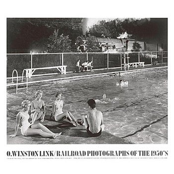 ''Swimming Pool, August 28, 1958, Welch, West Virginia'' by O. Winston Link Transportation Art Print (27.5 x 31.5 in.)