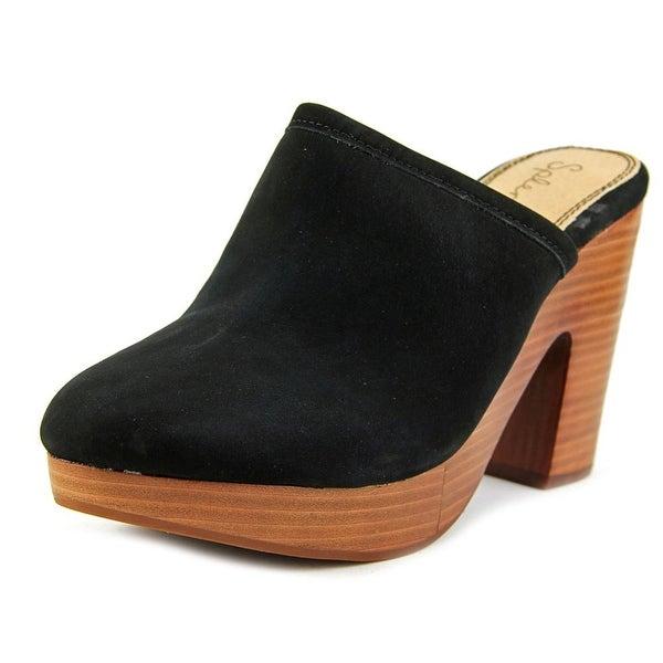 Splendid Gabby Women Round Toe Leather Black Clogs