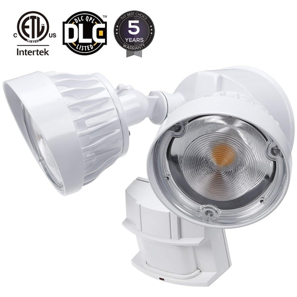 Shop 30W Dual-Head Motion Activated LED Security Light, 3300lm