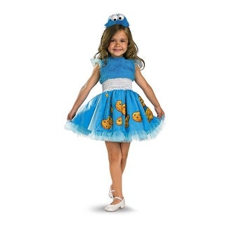 Disguise Sesame Street Frilly Cookie Monster Toddler/Child Costume - Blue