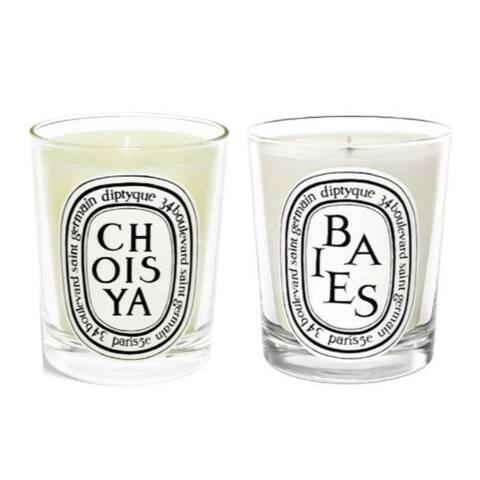 Diptyque Scented Candles Twin Pack (Berries, Choisya/ Orange Blossom)
