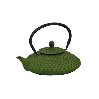 GURO Cast Iron 41 Ounces / 1.2L Green Japanese Teapot - Hira