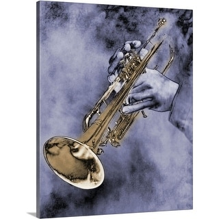 Premium Thick-Wrap Canvas entitled Trumpet Player