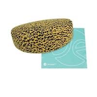JAVOedge Black Leopard Print Sunglass Case and Bonus Mircofiber Cleaning Cloth - YELLOW