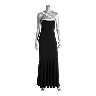 Lauren Ralph Lauren Womens Formal Dress Matte Jersey One Shoulder - 4