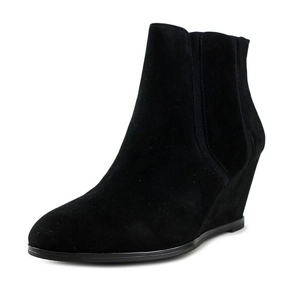 Alfani Womens Calistah Leather Almond Toe Ankle Fashion Boots
