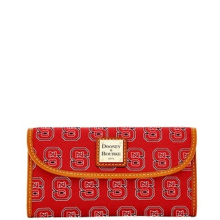 Dooney & Bourke NCAA NC State Continental Clutch (Introduced by Dooney & Bourke at $128 in Aug 2015) - Red