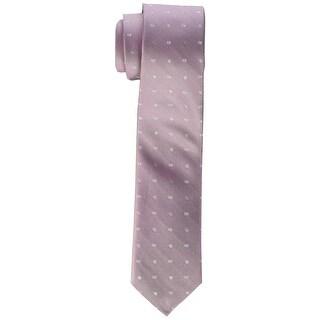 Calvin Klein NEW Purple Men's One Size Pindot Logo Skinny Silk Neck Tie