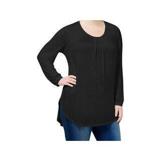 Seven7 Womens Plus Pullover Top Lace Trim Crew Neck (More options available)