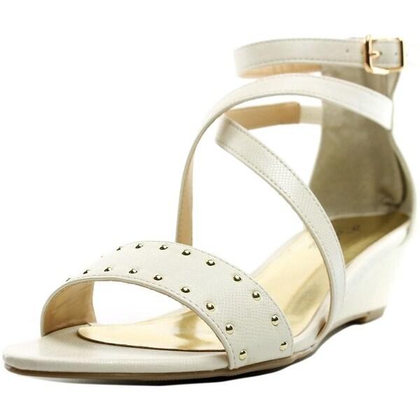 Thalia Sodi Pia Women White Snake Sandals