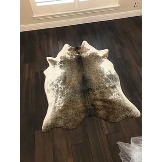 Carbon Loft van Leeuwenhoek Faux Rawhide Coffee/ Ivory Rug
