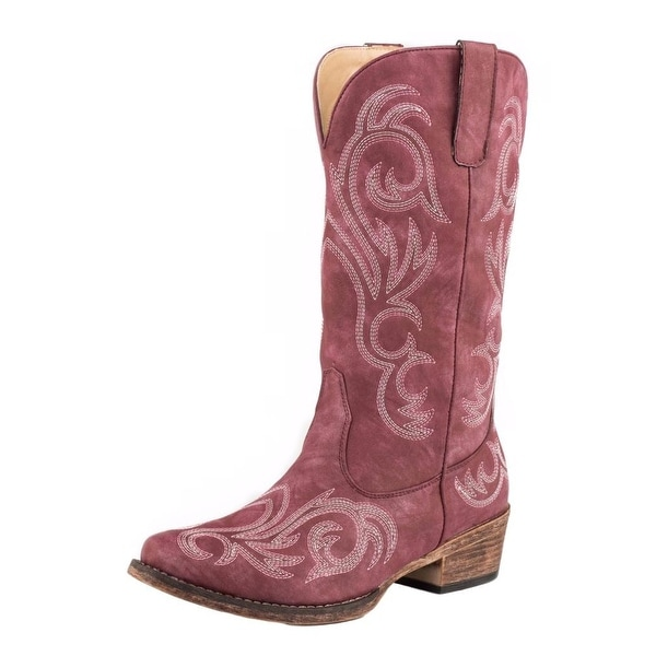 Roper Western Boots Womens Riley Faux Leather Red