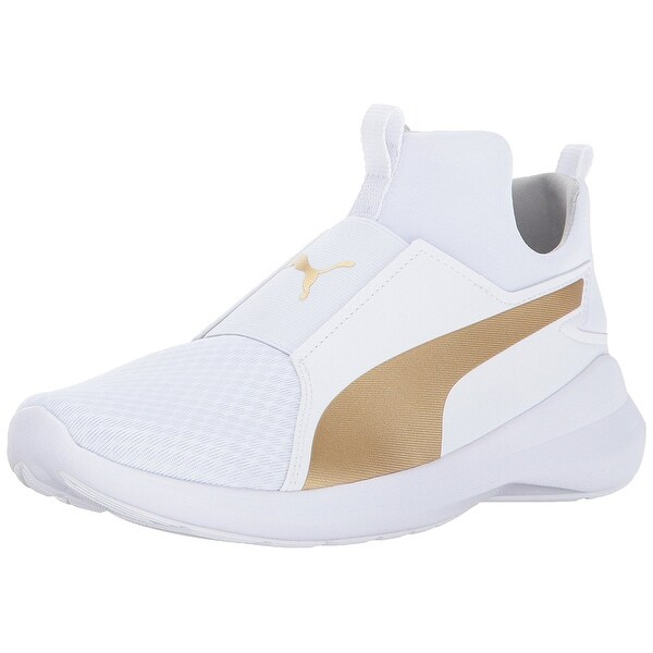 puma rebel gold