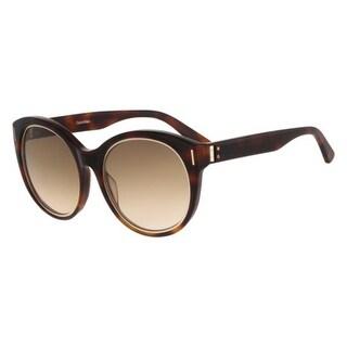 Calvin Klein Collection Womens Cat Eye Sunglasses Oversized Tortoise Frame - soft tortoise/brown - o/s