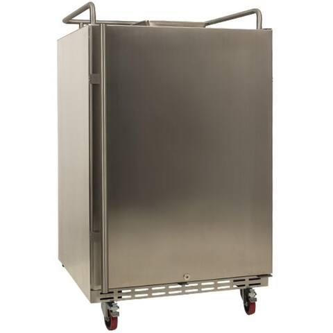 "EdgeStar BR7001OD 24"" Wide Outdoor Kegerator Conversion Refrigerator - Stainless Steel"