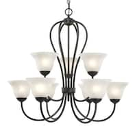 Millennium Lighting 79 Main Street 9-Light Two Tier Chandelier - n/a