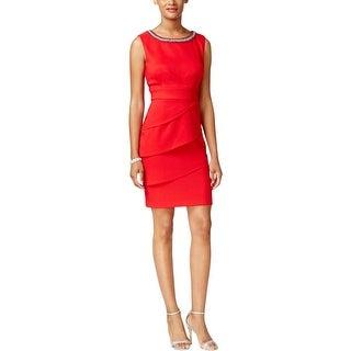 Connected Apparel Womens Party Dress Embellished Tiered