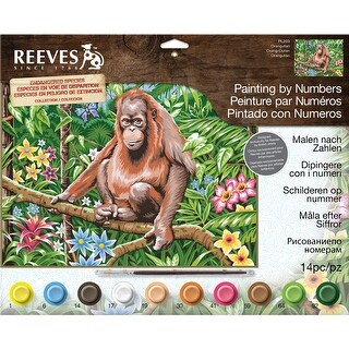 """Paint By Number Kit 12""""X16""""-Orangutan"""