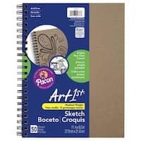 Art1st Create-Your-Own Sketch Diary, 11 x 8-1/2 Inches, Kraft Cover