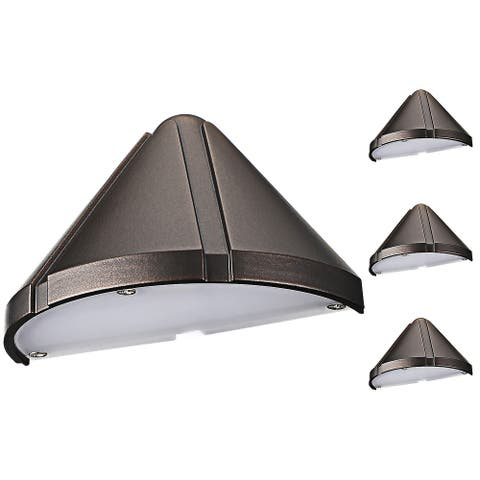 4 Pack LED 12-24V Deck Step Light, Oil Rubbed Bronze