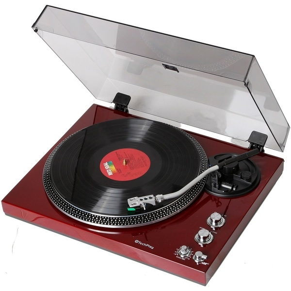 TechPlay TCP4530 CHE, Analog Turntable with Built-in Phono Pre-a