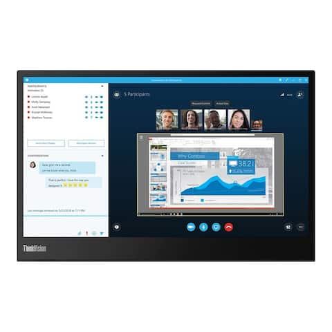 """Lenovo ThinkVision M14 1080p 14"""" IPS Monitor,Black (Refurbished)"""