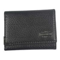 "Harley-Davidson Men's Gunmetal Bar & Shield Leather Tri-Fold Wallet GM6549L-BLK - 4.75"" x 3.75"""
