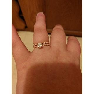 Auriya 14k Gold Vintage-Inspired 4/5ct TDW Diamond Engagement Ring Bridal Set