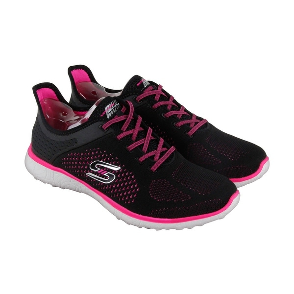 Skechers Microburst Supersonic Mens Black Pink Mesh Athletic Training Shoes