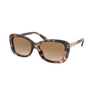 Link to Coach HC8286F 559013 58 Pink Tortoise Woman Rectangle Sunglasses Similar Items in Women's Sunglasses