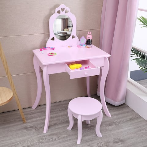 Children's Furniture Dressing Table One Mirror/Chair/Single Drawer